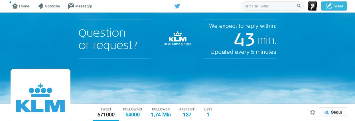 KLM costumer service