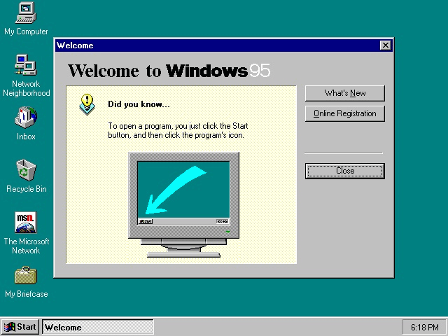 Primo Avvio Windows 95
